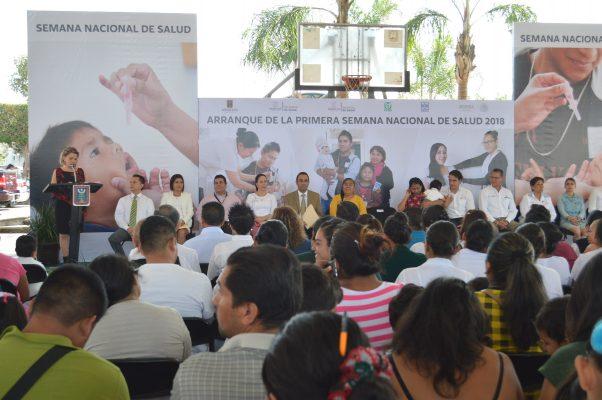 Inicia Semana Nacional de Salud