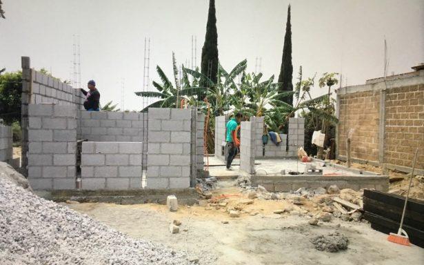 Familias recuperarán sus viviendas en Tlayacapan