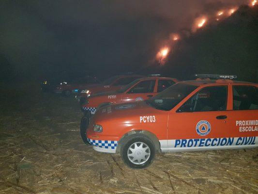 Alertan por incendio en basurero de Yautepec