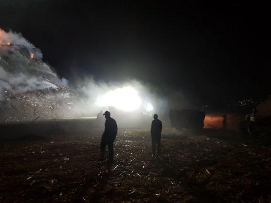 Grave incendio en basurero de Yautepec
