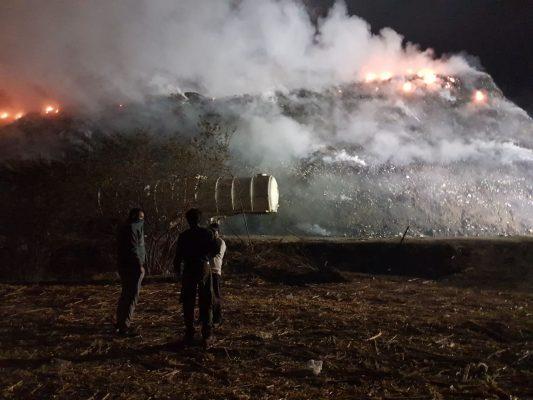 Piden tomar precauciones por incendio en basurero de Yautepec