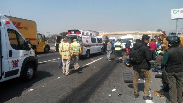 Fatal accidente en la México-Puebla; pierden la vida tres personas