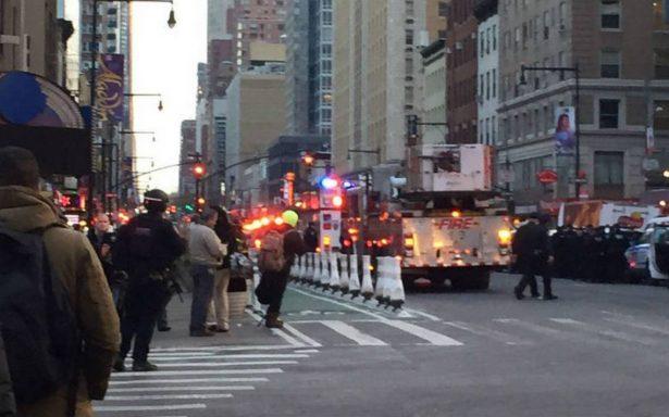 Reportan explosión cerca de Times Square en Nueva York