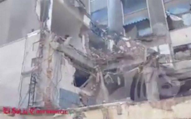 Tras sismo, así luce la Torre Latinoamericana de Cuernavaca
