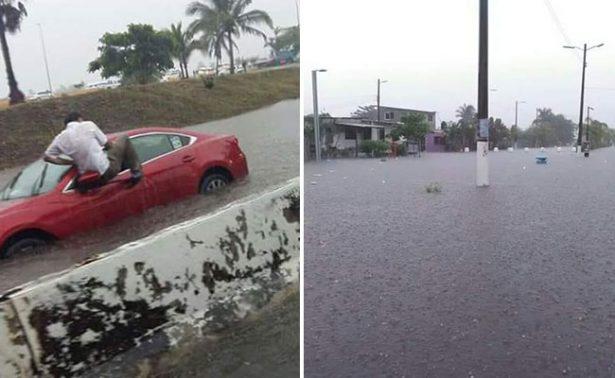 Veracruz bajo el agua: lluvia causa graves inundaciones