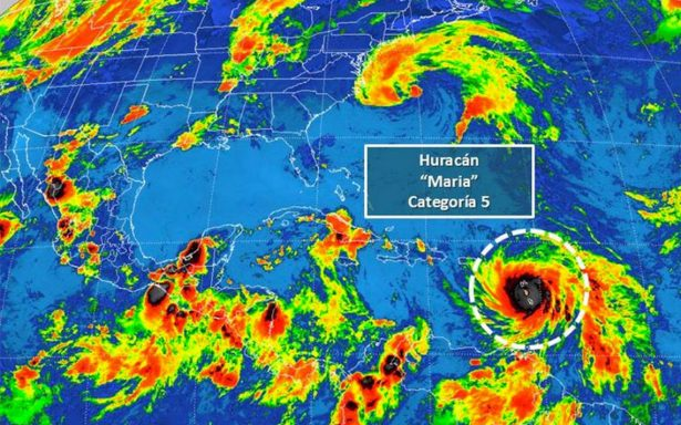 ¡Alerta, huracán María ya es categoría 5!