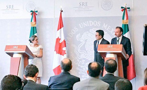 Luis Videgaray da bienvenida a ministra de Exteriores de Canadá