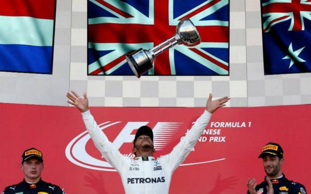 Hamilton gana el GP de Japón y se acerca a su cuarto título mundial