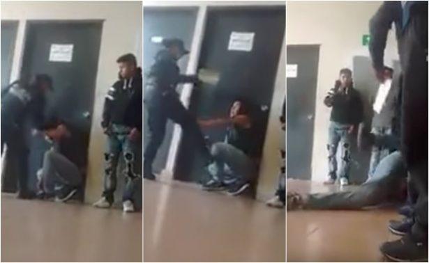 Video exhibe a policías de Edomex golpeando a detenido