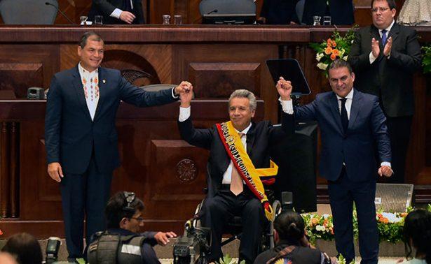 Asume Lenín Moreno como presidente de Ecuador; resalta unidad