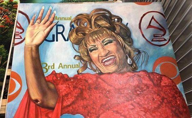 Exhiben por primera vez pinturas de Celia Cruz en Cuba