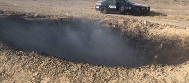 Aparece misterioso cráter en Saltillo, ¿fue obra de un meteorito?
