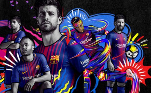 Barcelona presenta su nuevo jersey para temporada 2017-2018