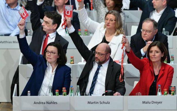 Partido Socialdemócrata acepta formar gobierno con Angela Merkel