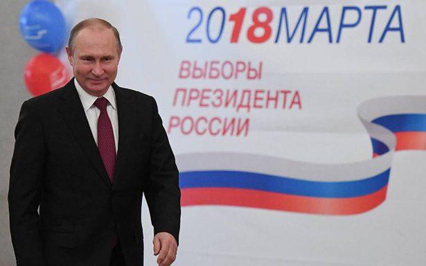 Putin es reelecto en Rusia con 71.9% de votos, según sondeo