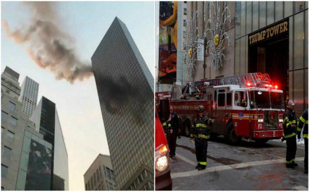 [VIDEO] Incendio en Torre Trump de Nueva York deja al menos dos heridos