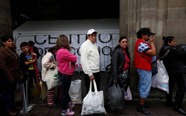 """""""Aquí estamos"""", expresan mexicanos a damnificados por temblor"""