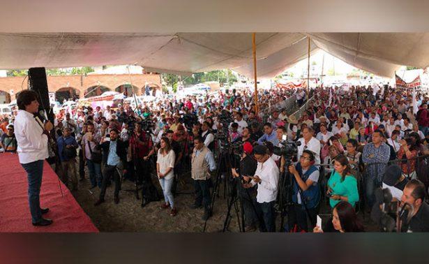 Delfina Gómez prefiere no fiarse ante preferencia electoral del Edomex