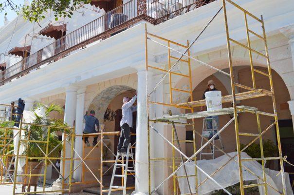 Supervisa el INAH trabajos de restauración del Palacio municipal