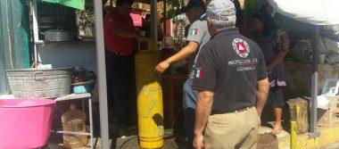 Alarma fuga de gas a habitantes de Teopanzolco