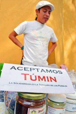 El Túmin, una alternativa al dinero que representa solidaridad. Foto: HAIDEE GALICIA