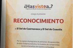 Reconoce la PGR la labor de El Sol de Cuernavaca y El Sol de Cuautla por su compromiso social