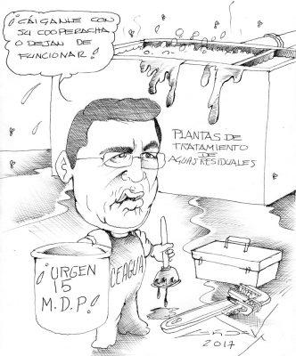 Cartón: ¡Urgen 15 M.D.P!
