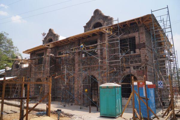Restauración de la antigua estación del ferrocarril, concluye en un mes