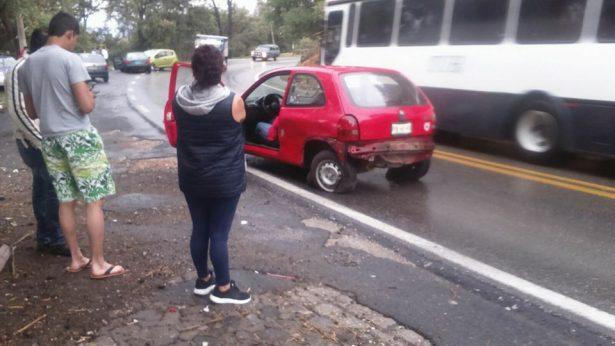 Dos lesionados en  choque, en Tres Marías