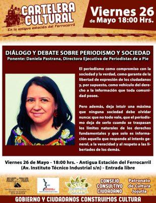 Ofrece conferencia la periodista Daniela Pastrana