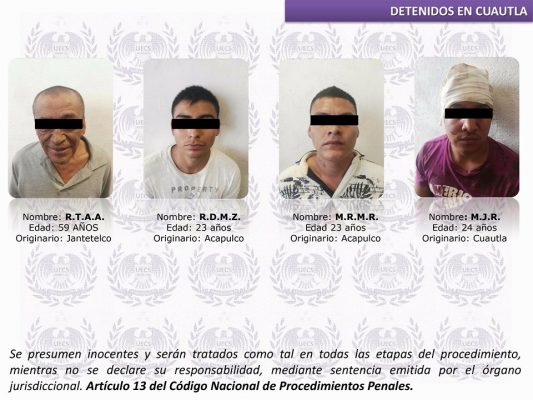 A proceso, cuatro supuestos secuestradores