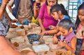 Los niños estuvieron muy activos e interesados en los talleres.