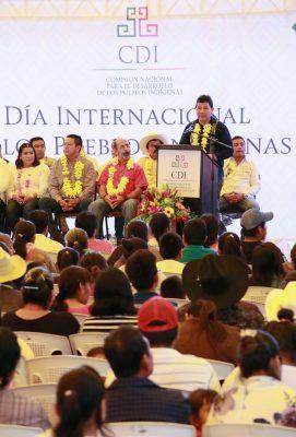 Celebra el secretario de Gobierno el Día Internacional de los Pueblos Indígenas