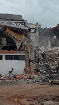 Derrumban mercado de Oaxtepec