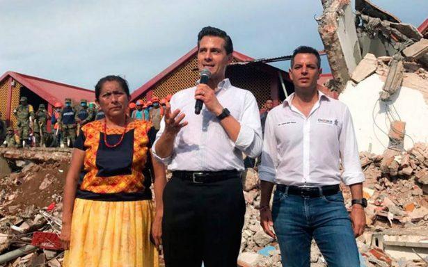 Peña Nieto declara luto nacional por temblor de 8.2