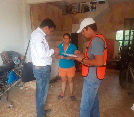 durante varios días, brigadas estuvieron inspeccionando las casas dañadas en la capital del estado. Foto Cortesía