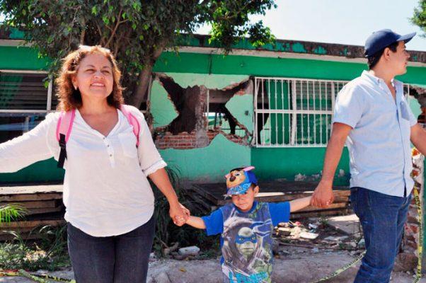 El gobierno del estado anunció la rehabilitación de escuelas públicas dañadas por el sismo. Foto: Froylán Trujillo