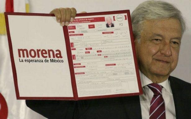 AMLO se registra como precandidato a la Presidencia