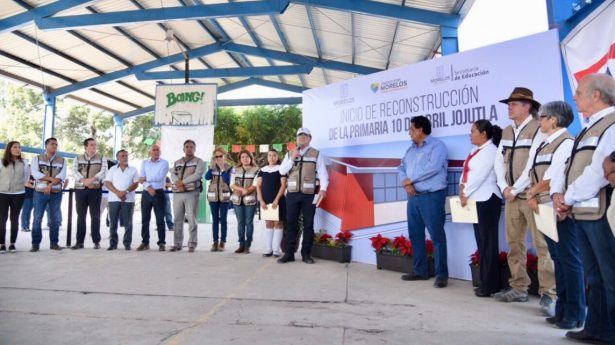 [VIDEO] Colocan la primera piedra de la escuela 10 de abril en Jojutla