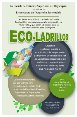 Inicia campaña de donación de eco-ladrillos
