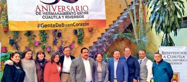 Celebran Cuautla y Riverside 50 años de hermandad