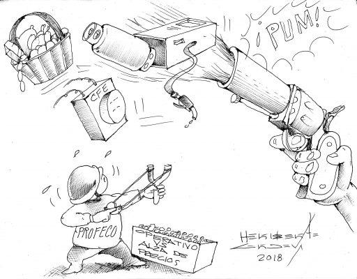 Cartón: Batalla desigual