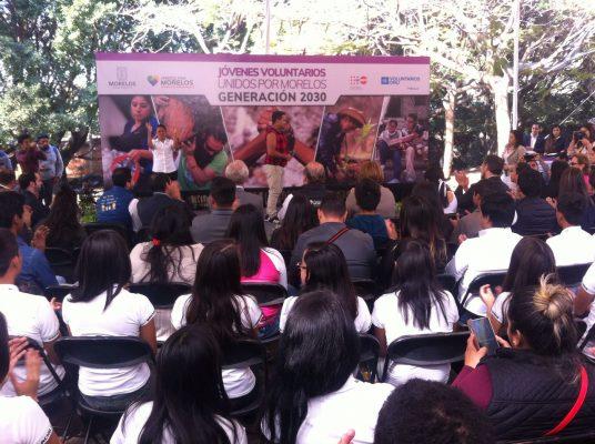 Fortalecen Morelos y Naciones Unidas voluntariado juvenil