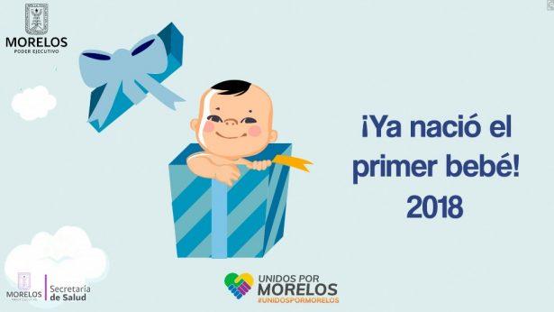 [GALERÍA] El primer bebé del 2018 en Morelos: ¡Es niño y ya tiene nombre!