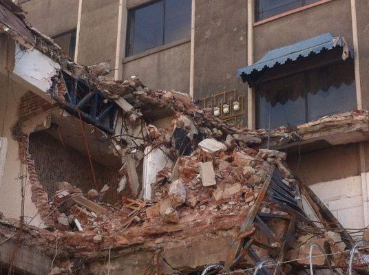 Momento del sismo en la Torre Latinoamericana