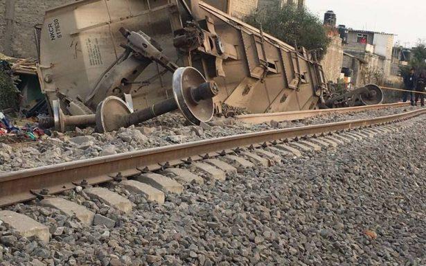 Descarrila tren en Ecatepec; hay 5 muertos