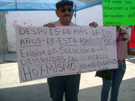Protesta la Canaco Servytur en Tlaltizapán