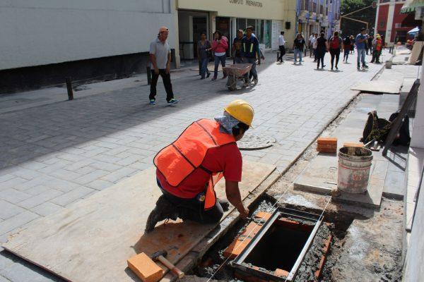 Avanzan obras en el Centro Histórico