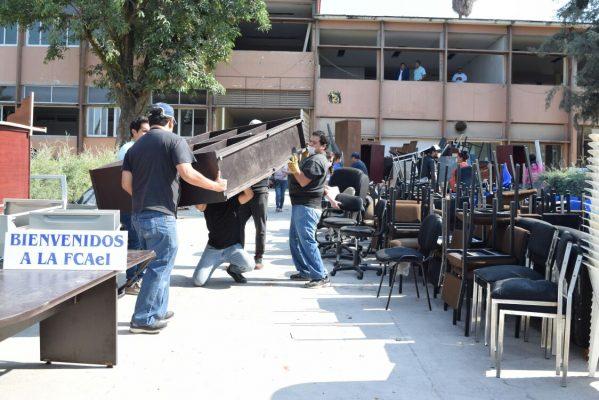 [VIDEO] Desalojan edificio 2 de la FCyA; su demolición iniciará en breve