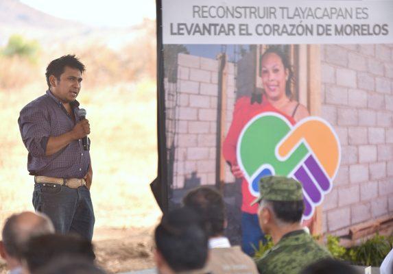 Construirán 50 viviendas a familias de Tlayacapan afectadas por el sismo